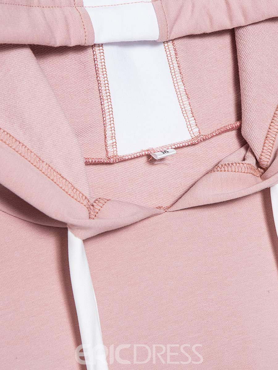 Ericdress Color Block Patchwork Breathable Long Sleeve Tops