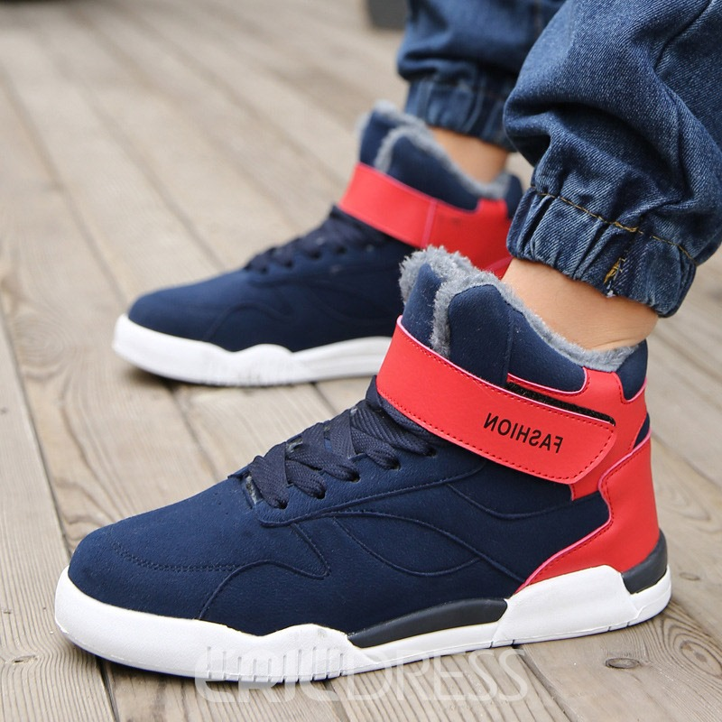 Warm Velcro Color Block Men's Boots how much cheap price real online store for sale sale view 2hy2z