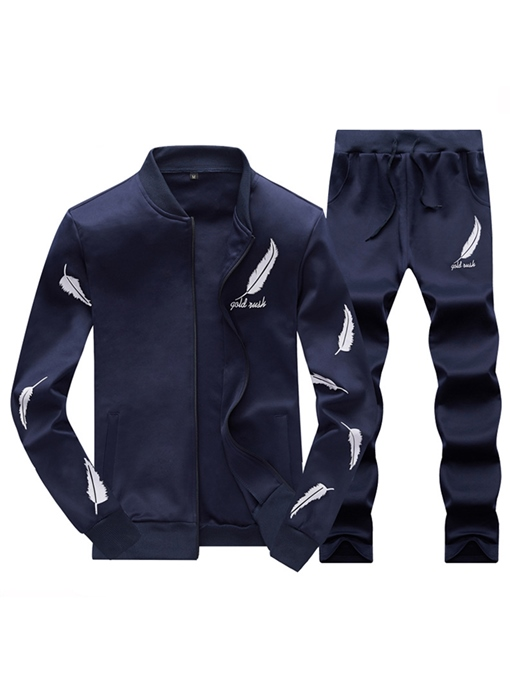 Ericdress Stand Collar Two Piece Men's Sports Suit