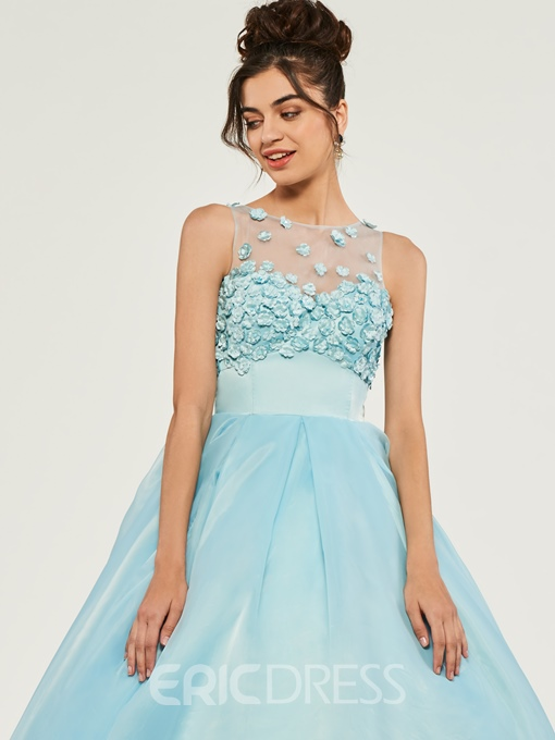 Ericdress Scoop Neck Empire Flower Applique Quinceanera Dress