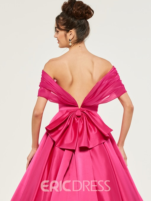 Ericdress Off The Shoulder Short Sleeve Ball Quinceanera Dress With Bowknot