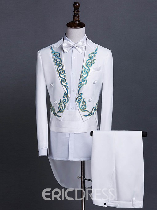 Ericdress Slim Full Length Embroidery Men's Suit