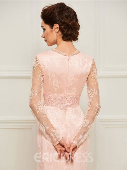 Ericdress Long Sleeves Mermaid Lace Mother of the Bride Dress