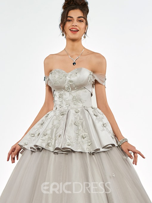 Ericdress Short Sleeve Sweetheart Applique Ball Quinceanera Dress