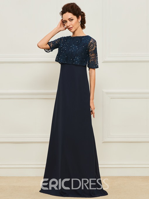 Ericdress Half Sleeve Beading Lace Mother of the Bride Dress