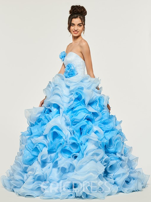 Ericdress Sweetheart Empire Puffles Layers Quinceanera Dress