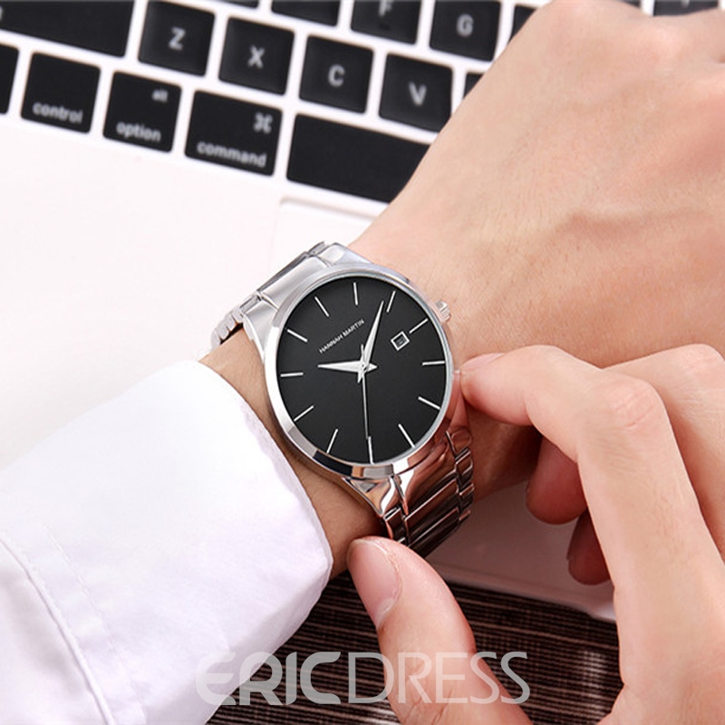 Ericdress JYY Concise THree Hands Steel Strap Watch for Men