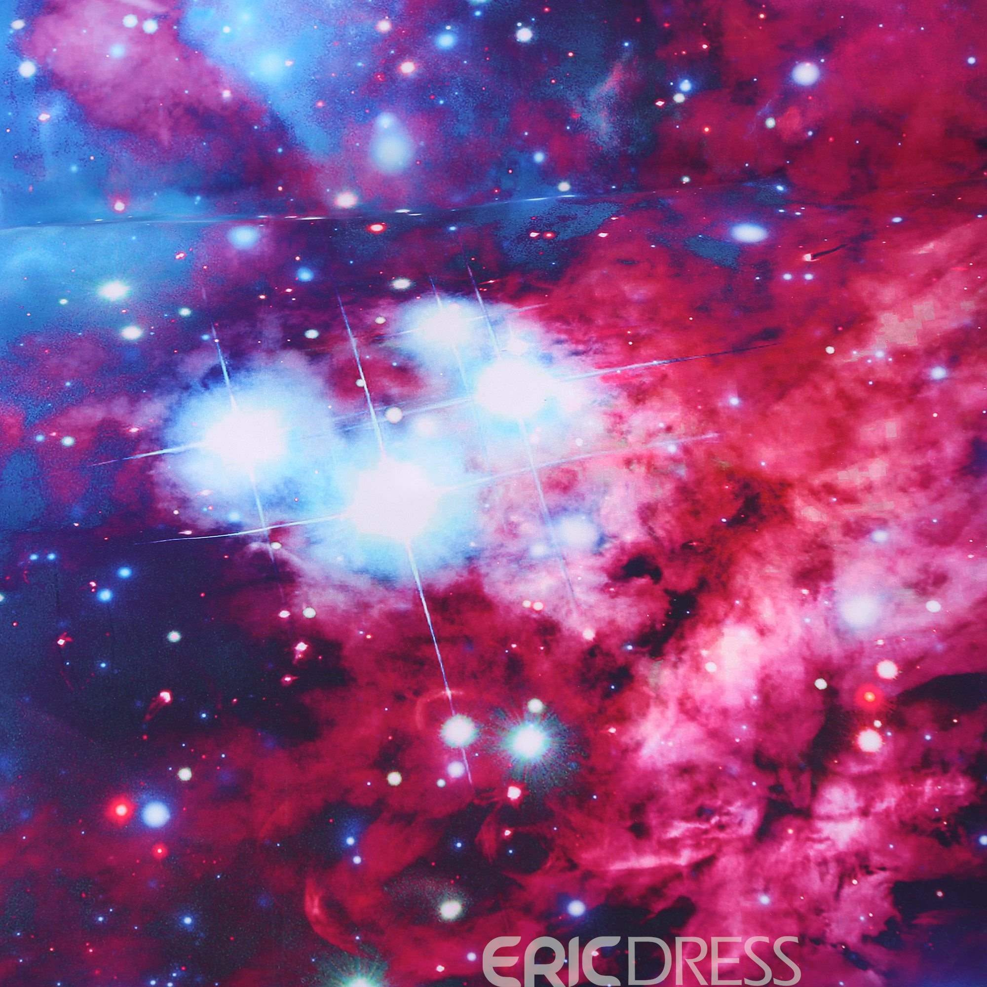 Vivilinen Stars and Multicolored Galaxy Printed Cotton 3D 4-Piece Bedding Sets/Duvet Covers