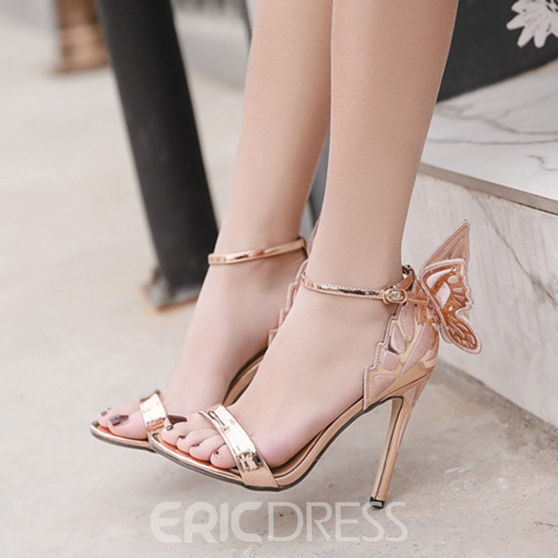 Ericdress Wing Open Toe Plain Stiletto Sandals