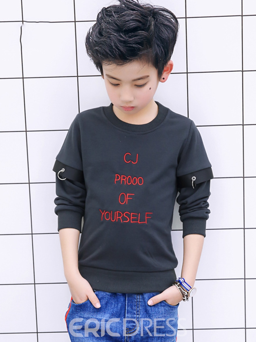 Ericdress Letter Print Pullover Cotton Boys' T-shirt