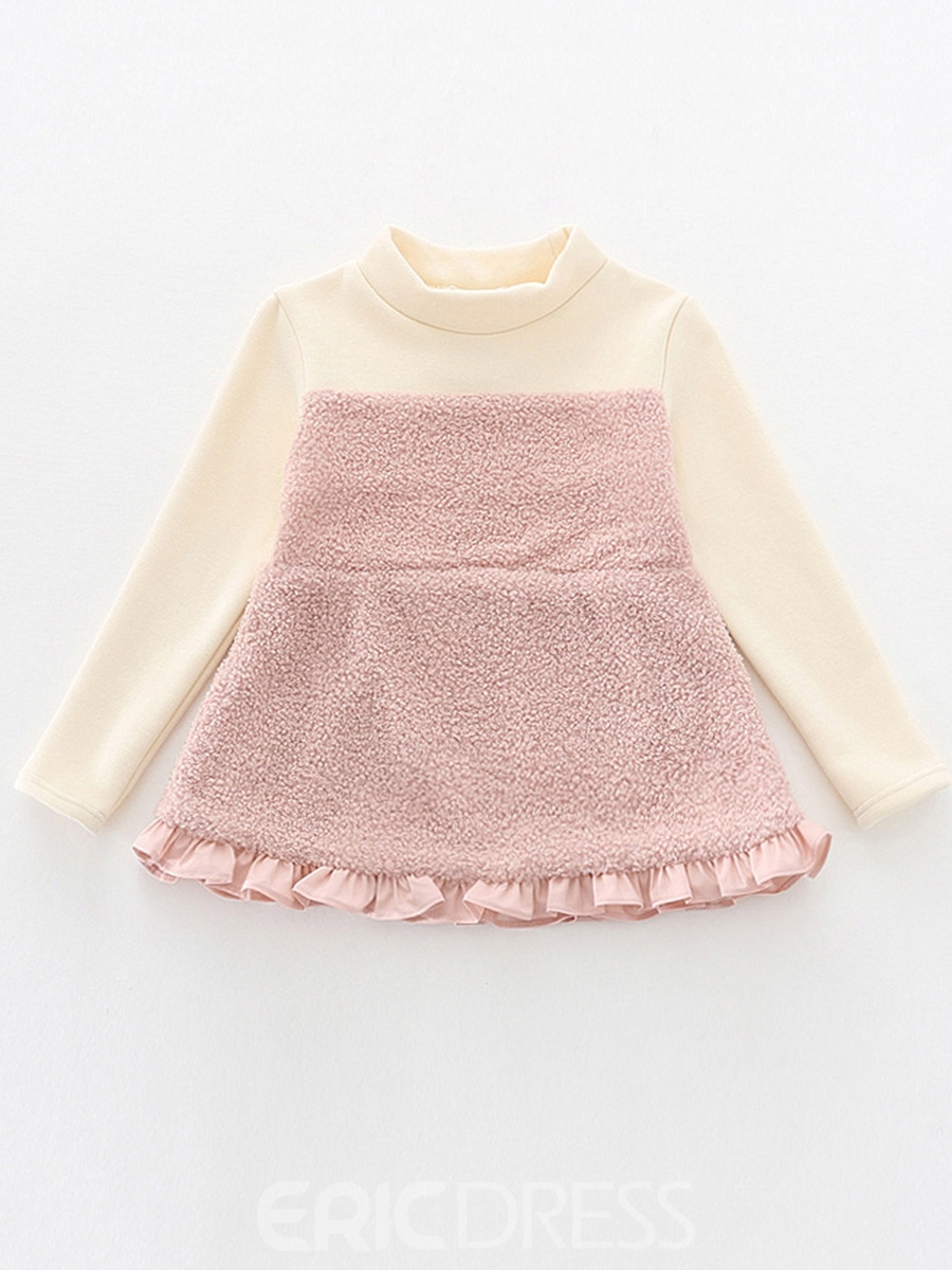 Ericdress Falbala Patchwork Pullover Girls' Sweater