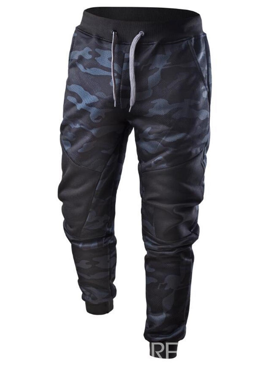 Ericdress Camouflag Lace-Up Men's Casual Pants
