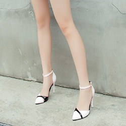 Ericdress Color Block Pointed Toe Stiletto Heel Womens Pumps
