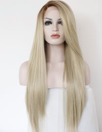 Fashion Ombre Blonde Glueless Synthetic Hair 26 Inches