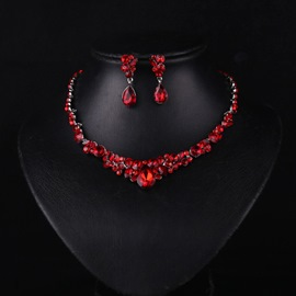 Ericdress Ruby Inlay Red Jewelry Set for Wedding