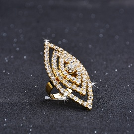 Ericdress Punk Style Fully-Jewelled Women's Ring