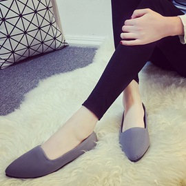 Ericdress Simple Slip-On Pointed Toe Women's Flats