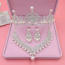 Ericdress Wedding Accessories Rhinestone Imitation Pearl Jewelry Set