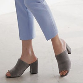 Ericdress Flip Flop Slip-On Block Heel Mules Shoes