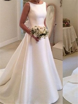 Ericdress A-Line Backless Bateau Simple Wedding Dress
