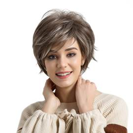 Romantic Enchanting Short Hair Synthetic Wigs For Women 10 inches