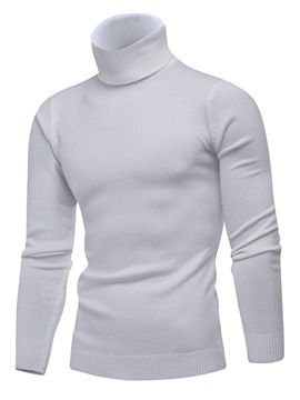 ericdress High Neck Plain Männer dünnen Pullover