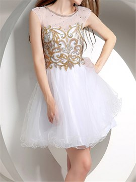 Ericdress brillant a-ligne court/Mini longueur Junior Prom Dress