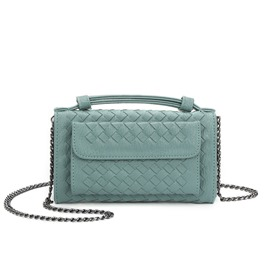 Ericdress Solid Color Knitted Pattern Crossbody Bag