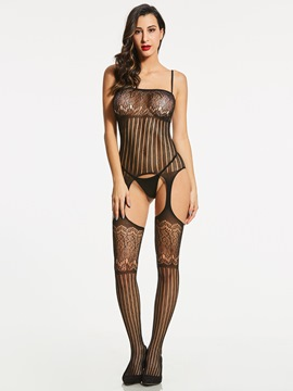 Ericdress Hollow Fishnet Open Crotch Pantyhose