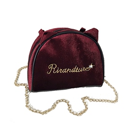 Ericdress Letter Pattern Velour Chain Crossbody Bag