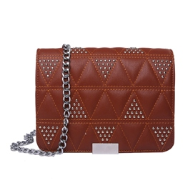 Ericdress Quilted Lining Pattern Rivet Crossbody Bag