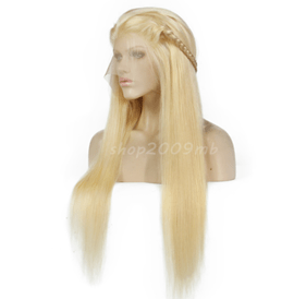 Straight Blonde Lace Front Synthetic Hair 26 Inches