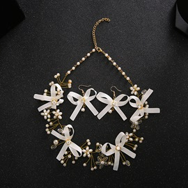 Ericdress Bowtie Decorated Two-Piece Wedding Jewelry Accessories