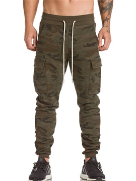 Ericdress Camouflage Lace-Up Men's Causal Pants