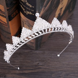 Ericdress White Triangle Bride Wedding Tiara