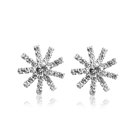 Ericdress Diamante Christmas Snowflower Stud Earring
