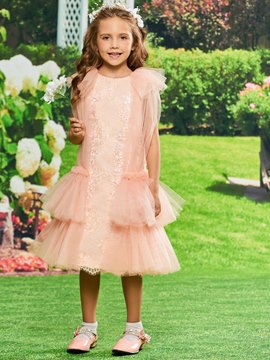 Ericdress Lace Tea Length Flower Girl Party Dress