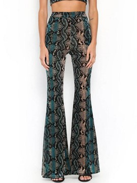 Ericdress Snakeskin Print Slim Women's Pants