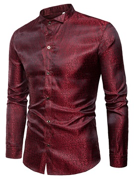 Ericdress Lapel Slim Single-Breasted Men's Shirt