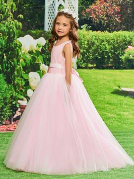 Ericdress Ball GownTulle Flower Girl Dress