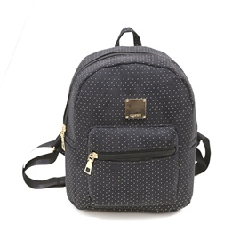 Ericdress Dot Pattern Zipper PU Backpack