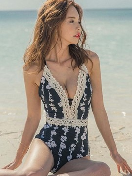 Ericdress Floral Lace One Piece Swimwear