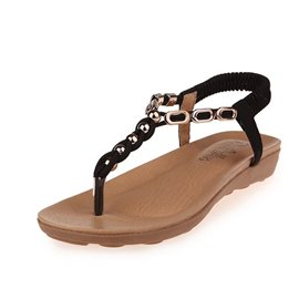 Ericdress Sequin Elastic Band Thong Flat Sandals