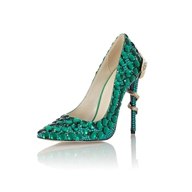 Ericdress Rhinestone Slip-On Stiletto Heel Women's Prom Shoes