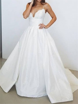 Ericdress Appliques Taffeta Ball Gown Wedding Dress
