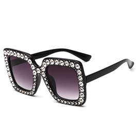 Ericdress Fully-Jewelled Frame Women's Sunglass