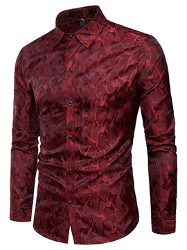 Ericdress Lapel Long Sleeve Men's Shirt