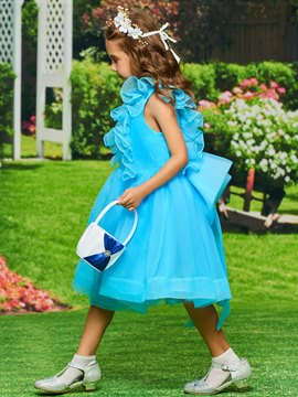Ericdress A-Line Organza Tea Length Flower Girl Dress