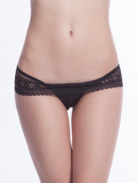 Ericdress Lace Plain See-Through Panty