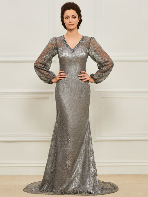 Ericdress Mermaid Lace Long Sleeves Mother of the BrideDress